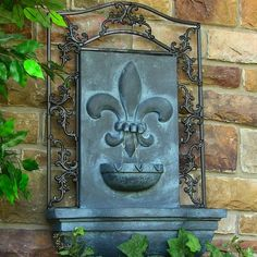 Sunnydaze French Lily Outdoor Wall Water Fountain - Waterfall Wall Mounted Fountain & Backyard Water Feature with Electric Submersible Pump - Lead Finish - 33 Inch Outdoor Wall Fountains, Garden Fountains, Outdoor Walls, Solar Fountains, Outdoor Living, Fountain Garden, Outdoor Spaces, Indoor Outdoor, Backyard Water Feature