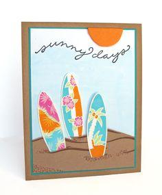 DeNami Sunny Days Surfboard Card by @Dana Seymour