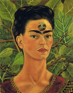Frida Kahlo: Self-Portrait, Thinking about death (1943) | Flickr - Photo Sharing!