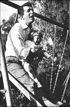 Dean Martin and daughter Gina,1958