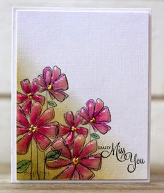 Penny Black  is showing my cards on Facebook on Fridays !         Here´s the first card with the fun stamps from  You´re Retro and the tre...