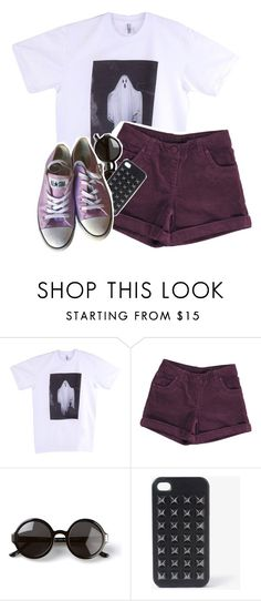 """""""☯Six billion lives looking for love, and you can't decide if it's enough☯"""" by fangirl-trash ❤ liked on Polyvore featuring American Apparel, The Row, Forever 21 and Converse"""