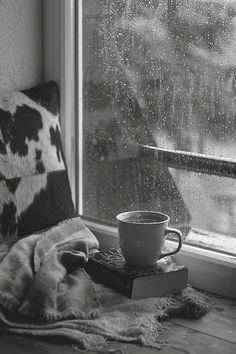 Curling up on the sofa/bed with a good book, sipping on some hot chocolate/ mocha and listen to the rain....