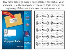"""label all of your students' """"stuff"""" quickly and easily with this back to school classroom management tip!"""