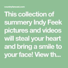 This collection of summery Indy Feek pictures and videos will steal your heart and bring a smile to your face! View them all right here.