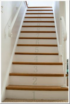 Painted Numbers on Stairs