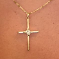 CA-18K Custom Gold and Diamond Cross