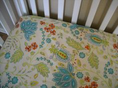 Crib sheets- love this pattern :)