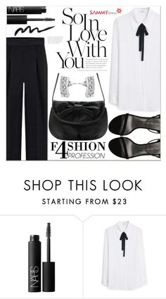 """""""Black Love"""" by lucky-1990 ❤ liked on Polyvore featuring NARS Cosmetics, MANGO and Stuart Weitzman"""