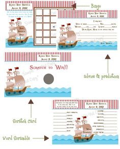 Pirate Ship Baby Shower Games