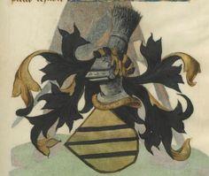 Armorial de la Table ronde.  Date d'édition :  1490-1500  Ms-4976  Folio 118r