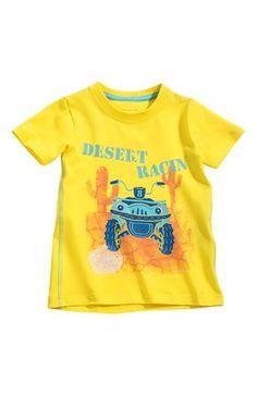 Lækre Name it T-shirt Vistus mini Gul Name it T-shirt til Børn & teenager til hverdag og fest