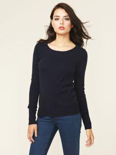 Caroline Cashmere Classic Crewneck Sweater by Barrow & Grove on Gilt.com