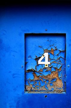 Number 4 is considered unlucky in Chinese numerology Azul Indigo, Bleu Indigo, Mood Indigo, Le Grand Bleu, Peeling Paint, Blue Dream, Something Blue, Letters And Numbers, Belle Photo