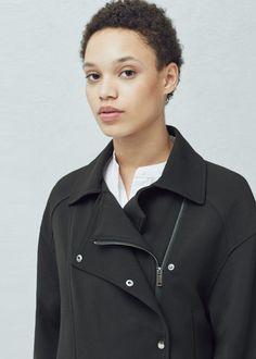 Krótki płaszcz oversize -  Kobieta | MANGO