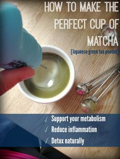 How to Make the Perfect Matcha on www.PopularPaleo.com