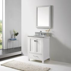 24 inch Belvedere Bathroom Vanity Set with Marble Top | Overstock.com Shopping - The Best Deals on Bathroom Vanities