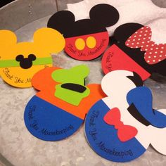Set of 5 Mousekeeping Envelopes Mickey Minnie by nickandjojo http://ibeebz.com