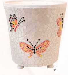 Butterflies on a cream background.