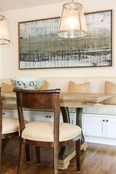 Banquette Dining Room Is Cozy, Transitional