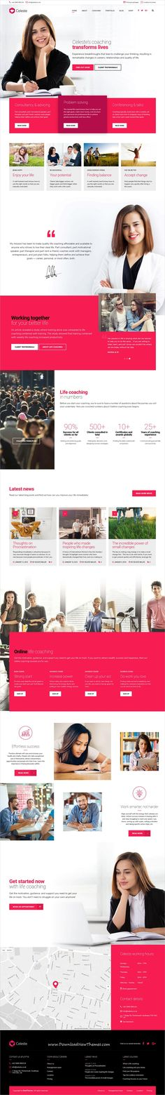 Celeste is clean and modern design 4in1 responsive #WordPress theme for business #consulting, marriage #counseling, life and health #coaching services #website to download & live preview click on image or Visit