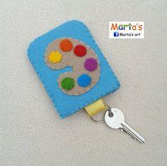 felt key ring pouch