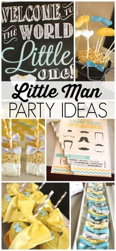 Fantastic ideas for a Little Man Baby Shower!  See more party ideas at CatchMyParty.com!