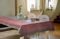 Ecofriendly, natural tablecloth. Netted 100% linen, Sunset colored, romantic tablecloth. Trimmed with smooth, delicate linen. With burnt candles – it will make all the place shine. Perfect for amorous evenings… Designed and (hand)made with love by JakSen.  Linen is known as the strongest natural textile so you can be sure that you'll buy something really long-standing. It is a perfect hypoallergenic fibre, ideal not only for children.  Size: 235/135 cm and about 92.5/53 inches  We can make…