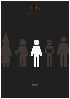 Buffy the Vampire Slayer Minimalist Poster Tv Show Serie