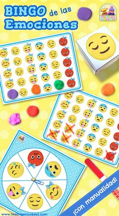 Get little ones exploring emotions words with this fun emoji feelings bingo game! Fully editable, and includes a fun craftivity for kids to make their own! Emotions Game, Feelings Games, Feelings And Emotions, Emotions Activities, Bingo For Kids, Worksheets For Kids, Games For Kids, Bingo Card Template, Blank Bingo Cards