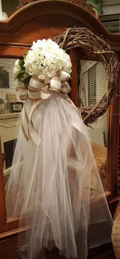 Wedding wreath bride dressing room wreath outdoor wedding