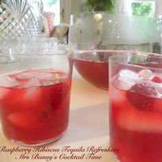 Magdalena loves these raspberry hibiscus tequila cocktails!! Turn up the music grab your lover and make memories ....  In a large saucepan, bring 8 cups water to a boil.  Add 2 cups of raspberries, chopped mint and tea bags.  Remove from heat and let stand at room temperature for 1 hour.  Remove tea bags and strain into a large pitcher.  Discard solids.  Add sugar , tequila, Grand Marnier, and lime juice and stir to combine.  Chill for at least one hour before serving.  Serve in individual…