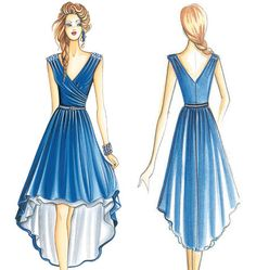 love the rooshing and the high low, also a pattern that i could buy to make my wedding dress.