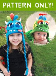 This crochet monster hat pattern will help you create the perfect Halloween costume or fun new winter hat! #BriAbby #Crochet #Hat #Pattern #Halloween #Costume #Monster #Alien #Kid #baby #child #adult