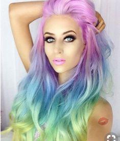 Purple Wig Blue And Purple Ombre Hair Demi Permanent Hair Dye – porjack Hair Dye Colors, Red Hair Color, Cool Hair Color, Purple Hair, Ombre Hair, Purple Ombre, Rainbow Dyed Hair, Hidden Rainbow Hair, Hair Colorful