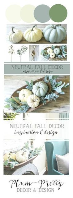 Neutral Fall Decor Inspiration and Design #autumnspaces #neutraldecor #natureinspired #bringtheoutsideinside.