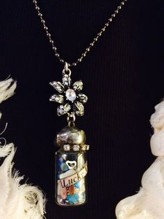 """""""Lucky Mama"""" By: KariWolfDesigns.etsy.com soldered gypsy style, altered art statement necklace"""