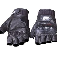 Genuine Leather motorcycle gloves PRO-BIKER Genuine goat leather Fingerless Motocross racing Gloves protective gear GPCS04H