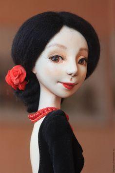 Collectible doll / Кармен - черный, красный, кармен, италия, Испания, коррида, сердце красавицы, кокетка