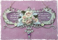 Home Decor ~ Wall Hanger {Maja Design, Dusty Attic and Shimmerz Paints}