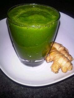 Apple Kiwi Superpower Green Smoothie:  1 apple, cored and cut into chunks 1 kiwi, peeled and quartered 1 handful tender kale leaves, chopped (about 2 cups ½ cup cilantro leaves 1 ...