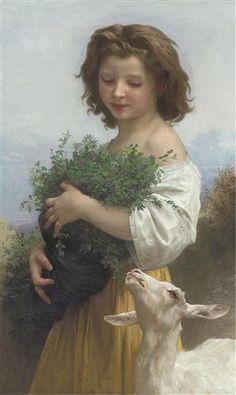 Little Esmeralda ~ William Adolphe Bouguereau  ~ (French 1825-1905)