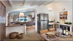 konyha étkező berendezés vidéki házak (Luxuslakások, ház)