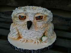 Amazing Owl Cake!  I don't have a single need to ever make an owl cake, but wanted to make sure I tucked this away somewhere safe.