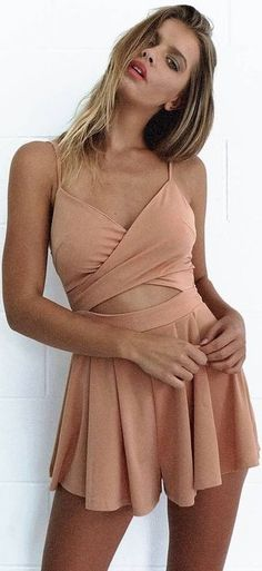#summer #mishkahboutique #outfits | Camel Playsuit