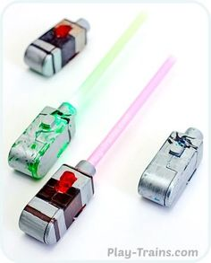 Light-Up DIY Mini Lightsabers @ Play Trains! http://play-trains.com/diy-mini-lightsabers-kids-craft/