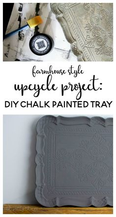 Farmhouse style upcycle project: DIY Chalk Painted…