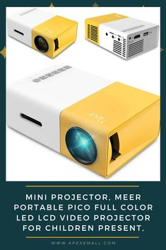 Specification: #Brightness: 400 lumens #Contrast: 800:1 #Native Resolution: 320*240 Support: 920*1080 #Operation Mode: Manual operation #Projector distance: 1-3m #Screen size: 24-80 inches #Aspect ratio: 4:3/16:9 #Color Reproduction: 16.7k #Input: USB/micro SD/HDMI/AV #Speaker:8Ω1w #Imaging Tech: TFT LCD #Unit size: 12.6*8.6*4.8 cm(4.7*3.4*1.9inches) #Projector ratio:1.6:1 #Net weight: 0.29kg (0.64pound) Price: $56.99 For purchase & more details, Click on img.