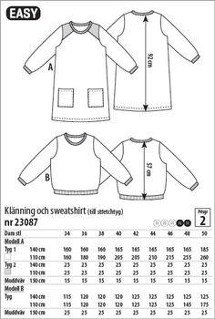 Klänning och sweatshirt - 23087 - Stoff & Stil
