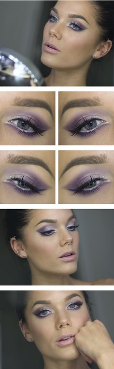 I wonder how this would look with light blue instead of purple. /// Todays look – Northern lights